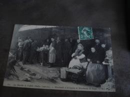 LES MARCHES DE PARIS MARCHANDS D ARLEQUINS ET DE SOUPE  1910 - Petits Métiers à Paris