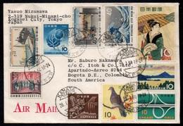 JAPAN - JAPON - KAMATA / 1964 LETTRE AVION POUR LA COLOMBIE - BOGOTA (ref LE3229) - Briefe U. Dokumente