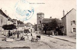 Haute-Saône : Saulx : Grande Rue - France