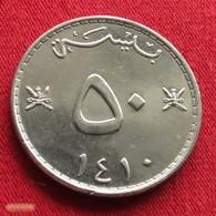 Oman 50 Baisa 1989 / 1410 KM# 46a  Omã - Oman