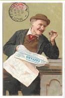 READING NEWSPAPER - 1903 UNDIVIDED POSTCARD - Postcards