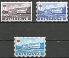 Philippines - 1962 TB Pavilion MNH **     Sc B18-20 - Philippines