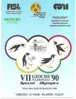 VII GIOCHI  NAZIONALI  '90  SPECIAL OLYMPICS  PESCARA 18-19-20 MAGGIO - Storia