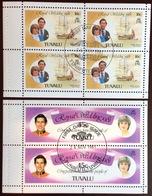 Tuvalu 1981 Royal Wedding Booklet Panes VFU - Tuvalu (fr. Elliceinseln)