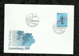 LUXEMBOURG . FDC . TOUR DE FRANCE . 08 MAI 1989 . - FDC