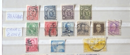 13 Francobolli Panama (1924} E Canal Zone 1928/51 - Central America