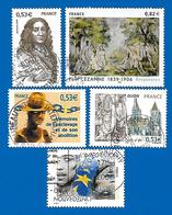 2006 - Timbres N° 3893, 3894, 3901, 3902,et 3903 - Frankreich