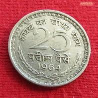 India 25 Paise 1964 C KM# 48.1  Inde Indien - Inde