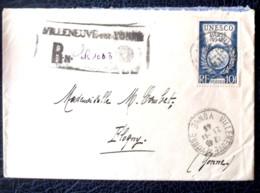 LETTRE RECOMMANDEE AVEC NO 771  SEUL   DE 1946 - Marcophily (detached Stamps)