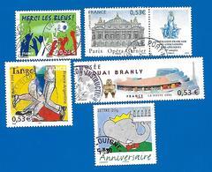 2006 - Timbres N° 3926, 3927, 3932, 3936 Et 3937 - Frankreich