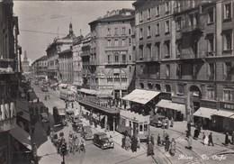 MILANO-VIA OREFICI-CARTOLINA ANIMATISSIMA-VERA FOTOGRAFIA- VIAGGIATA IL 22-6-1951 - Milano