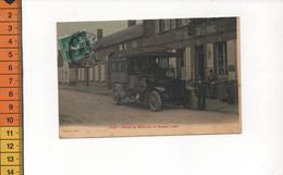 60 TILLE ROUTE DE BEAUVAIS ET MAISON LEBEL (carte Toilée Je Lis 1910 Sur Le Cachet Postal PHOTO PEINTURE A BREGER - France