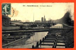 "CPA 52 Saint Dizier - Marnaval "" Le Canal à Marnaval "" - Saint Dizier"