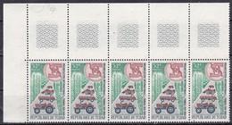 Chad,1969 - 32fr Tractors And Trucks, Blocco Di 5 - Nr.180 MNH** - Ciad (1960-...)