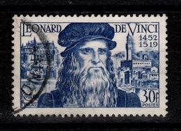YV 929 Oblitere Leonard De Vinci Cote 8,50 Euros - France