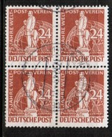 GERMANY---BERLIN  Scott # 9N 37 VF USED BLOCK Of 4 (Stamp Scan # 462) - Used Stamps