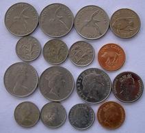 BERMUDA SERIE 8 MONETE CON TESTA DI REGINA DIVERSE. - Bermuda