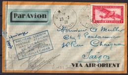 Premiere Liaison Postale Aerienne Hanoi Saigon  1938 - Indochina (1889-1945)
