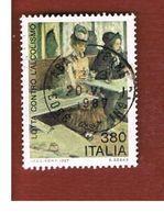 ITALIA REPUBBLICA  - SASS. 1806  -      1987    LOTTA CONTRO L' ALCOLISMO   -      USATO - 1981-90: Usati