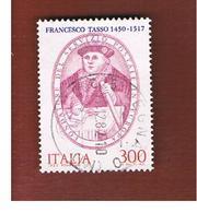 ITALIA REPUBBLICA  - UNIF. 1618 -      1982   SERVIZIO POSTALE DEI TASSO        -      USATO - 6. 1946-.. Repubblica