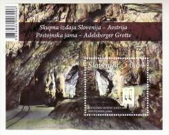 2154/ Slowenien Slovenia 2013 Mi.No. 998 ** MNH Block Adelsberger Grotte Postojna Cave Post Office Common Issue Österrei - Slowenien