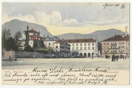 Italy  Bozen - Bolzano ,  Hotel Restaurant Caffe On Waltherplatz ,used 1905 To Rudna - Bolzano (Bozen)