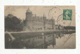 Cp, 56 ,château De JOSSELIN , Façade Sur L'OUST ,voyagée 1908 - Josselin