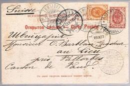 Russia, 1903, For Vaud - Briefe U. Dokumente