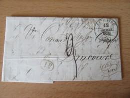 France - Lettre Le Havre Vers Drucourt - Taxe Manuscrite Chiffre 9 + Cachet Type 13 + Taxe 1 Décime - Avril 1835 - Marcophilie (Lettres)