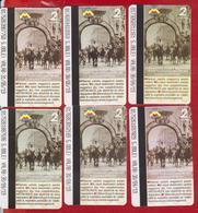 ROMANIA  BUCURESTI BUCHAREST GREAT UNION. THE KING OF FERDINAND  6 X TICKET METRO SUBWAY - Subway