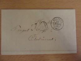 France - Peugeot - Lettre Belfort Vers Audincourt - Cachet Chiffre-taxe 30 - Mars 1859 - 1849-1876: Classic Period