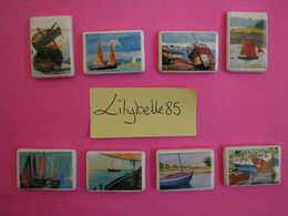 Serie Complète De 8 Fèves Artisanales CLAMECY - BATEAUX - HORIZONS MARINS 2010 ( Feve Miniature Figurine ) - Fèves