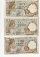 LOT DE 3 BILLETS SULLY - ANNEE 1939 -1942 ETAT AB - 1871-1952 Frühe Francs Des 20. Jh.