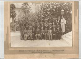 MONTPELLIER (HERAULT) PHOTO DE L'ECOLE NATIONALE D'AGRICULTURE PROMOTION 1935 1937 (PHOTO BRAS MONTPELLIER) - Lieux