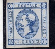 ITALIA REGNO ITALY KINGDOM 1863 EFFIGIE RE VITTORIO EMANUELE II KING CENT. 15 II TIPO MNH - 1861-78 Vittorio Emanuele II