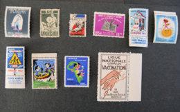 FRANCE - Lot N°7 - Commemorative Labels