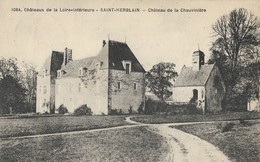 CARTE POSTALE ORIGINALE ANCIENNE : SAINT HERBLAIN LE CHATEAU DE LA CHAUVINIERE LOIRE ATLANTIQUE (44) - Saint Herblain
