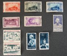 FRANCE - Lot N°12 - Commemorative Labels