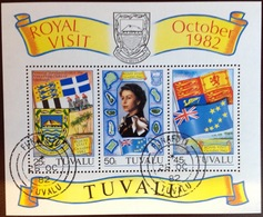 Tuvalu 1982 Royal Visit Minisheet VFU - Tuvalu (fr. Elliceinseln)