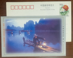 Cormorant Fishing On Lijiang River,CN 99 Celebration Of The 22nd UPU Congress & Philatelic Exhibition Pre-stamped Card - Eagles & Birds Of Prey