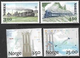 Norway   1996   Sc#1122-5  Railway & Gasfields Sets MNH  2016 Scott Value $16.25 - Neufs