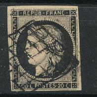 N°3 NUANCE ET OBLITERATION.VARIETE FILETS - 1849-1850 Ceres