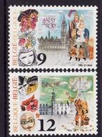 Timbres Neufs** Belgique, N°2200-1 Yt, Carnaval D'alost Et De Binche, Géants, Beffroi, Gilles De Binche, Masque - Belgique