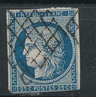 N°4 NUANCE ET OBLITERATION.VARIETE FILETS - 1849-1850 Ceres