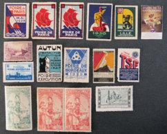 FRANCE - Foires Et Expositions Nationales - Commemorative Labels