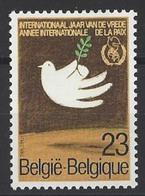 Timbres Neufs** Belgique, N°2204 Yt, Année Internationale De La Paix, Colombe, Rameau D'olivier - Belgio