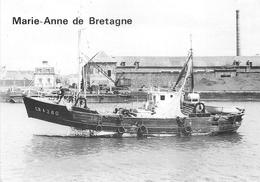 """¤¤  - CHERBOURG  -  Lancement Du Bateau De Pêche """" MATIE-ANNE De BRETAGNE """" Des Chantiers """"BELLOT """" - Cherbourg"""