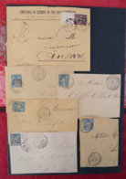 FRANCE - Lot De Lettres N°2 - Postmark Collection (Covers)