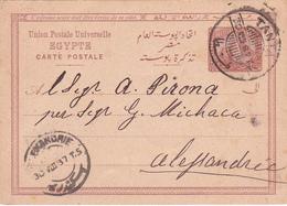 Entier Postal Stationery - Egypte - 1887 - Égypte
