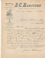 Espagne - Barcelona - S.C.Radisson - Mantecas Frescas Y Saladas, Grasas Alimenticias - Barcelone - 1902 - Spagna